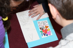 Rashi 5th Graders write letters of comfort to the victims of Sandy Hook Elementary School